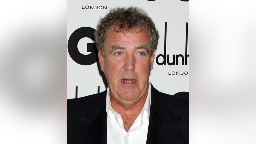 Sept. 6, 2011. TV host Jeremy Clarkson arrives for the GQ Men of the Year Awards in London.