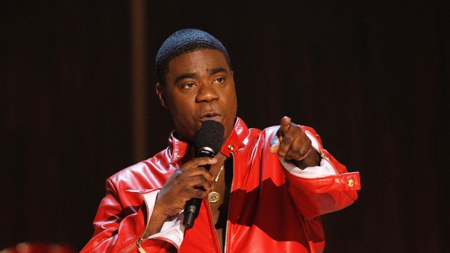 "November 3, 2012. Actor Tracy Morgan speaks during the taping of the Spike TV special tribute ""Eddie Murphy: One Night Only"" at the Saban theatre in Beverly Hills, California."
