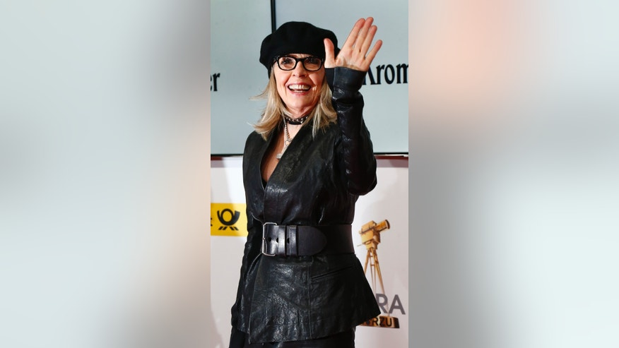 February 1, 2014.Diane Keaton poses on the red carpet for the Goldene Kamera (Golden Camera) awards ceremony in Berlin.
