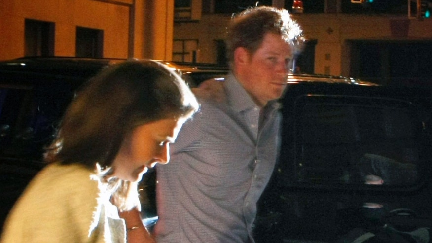 May 1, 2014. Britain's Prince Harry steps out of a vehicle to eat at Rendezvous in downtown Memphis, Tenn.   Prince Harry and Prince William are visiting Memphis for the Saturday wedding of former Memphian Elizabeth Lizzy Wilson and London nightclub owner Guy Pelly.
