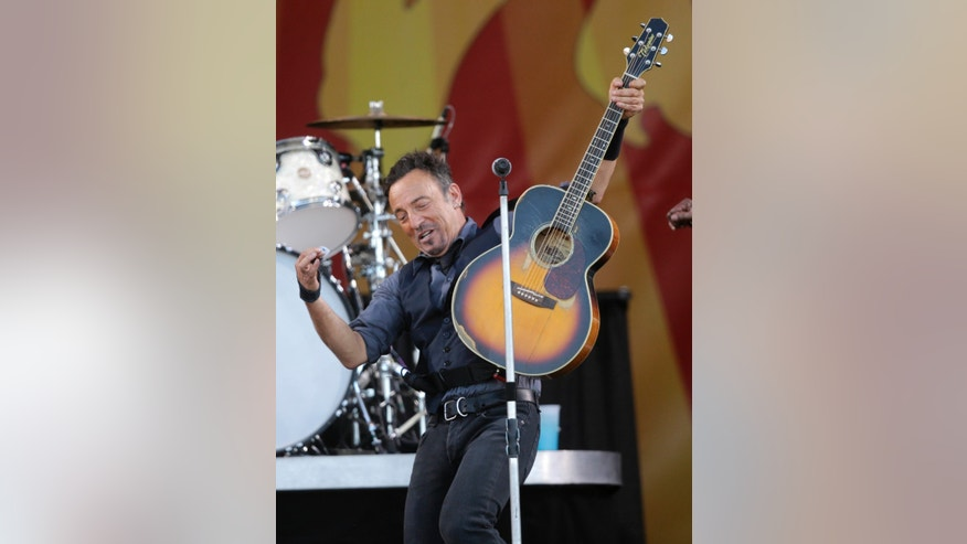 May 3, 2014. Bruce Springsteen performs at the New Orleans Jazz and Heritage Festival in New Orleans.
