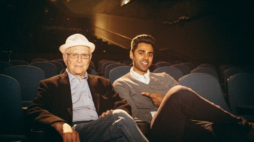 Norman Lear and comedian Hasan Minhaj.