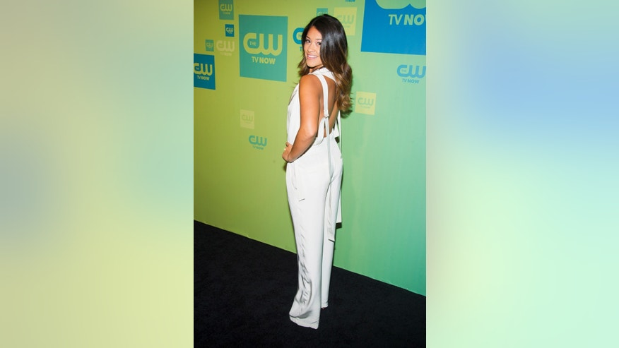 "May 15, 2014. Gina Rodriquez attends the CW Network Upfront in New York. She will be co-starring in the new fall show ""Jane the Virgin."""