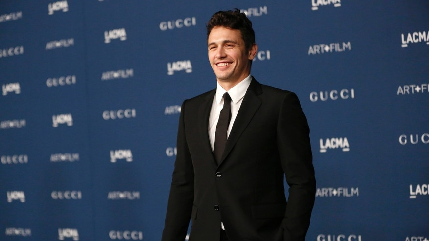 November 2, 2013. Actor James Franco poses at the Los Angeles County Museum of Art (LACMA) 2013 Art+Film Gala in Los Angeles, California.