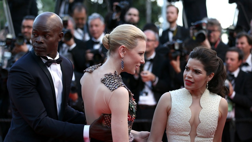 America Ferrera and Cate Blanchet during the Cannes Film Festival on May 16, 2014 in Cannes, France.