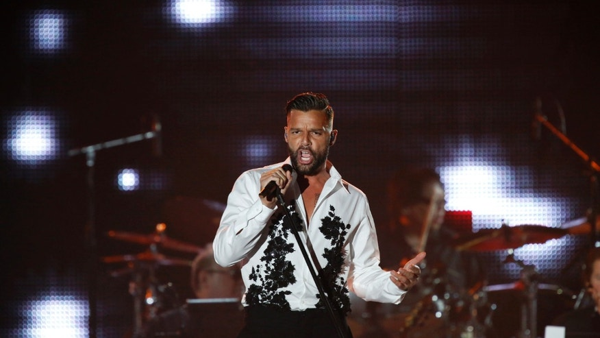 November 20, 2013. Singer Ricky Martin performs during the Latin Recording Academy's Person of the Year event honoring singer Miguel Bose in Las Vegas, Nevada.