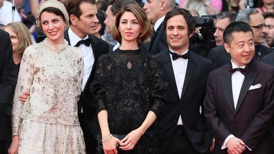 May 14, 2014: Jury members from left, Leila Hatami, Sofia Coppola, Gael Garcia Bernal and Jia Zhangke pose for photographers during the opening ceremony and the screening of Grace of Monaco at the 67th international film festival, Cannes, southern France. (AP Photo/Alastair Grant)