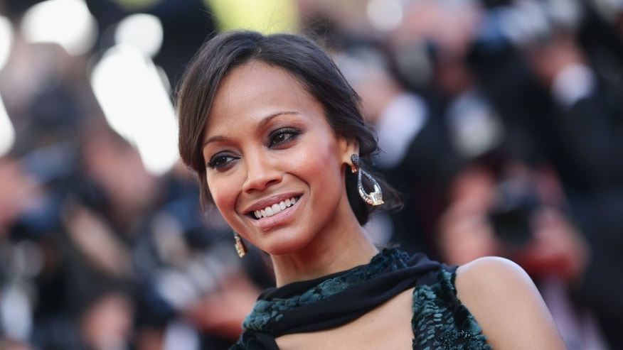"CANNES, FRANCE - MAY 15:  Zoe Saldana  attends the ""Mr Turner"" premiere during the 67th Annual Cannes Film Festival on May 15, 2014 in Cannes, France.  (Photo by Vittorio Zunino Celotto/Getty Images)"
