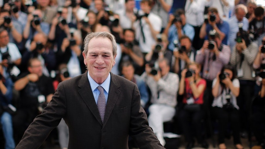 "May 18, 2014. Director and actor Tommy Lee Jones poses during a photocall for the film ""The Homesman"" in competition at the 67th Cannes Film Festival in Cannes."