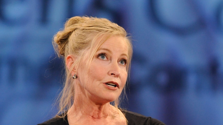 October 27, 2009. Lisa Niemi, wife of the late Patrick Swayze, speaks at the Women';s Conference 2009 in Long Beach, California.