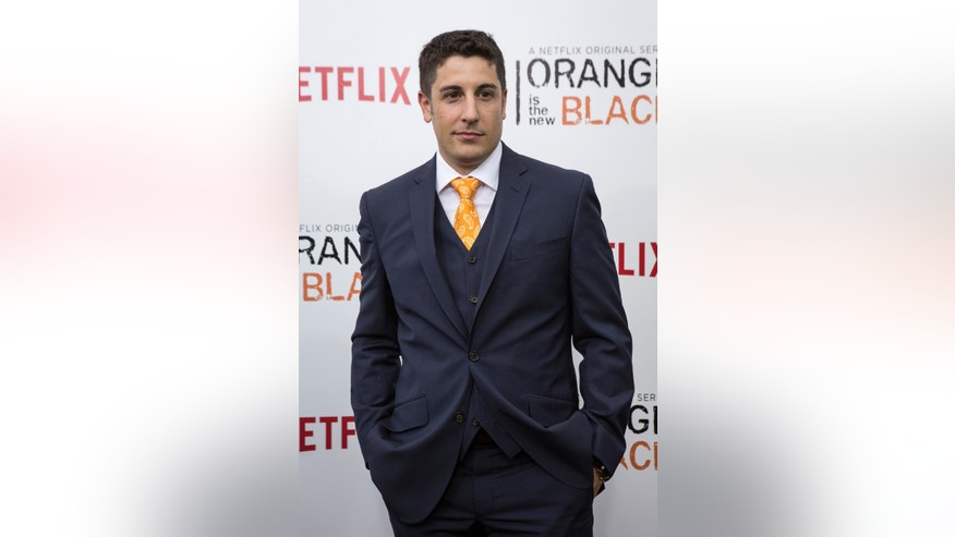 "May 15, 2014. Cast member Jason Biggs attends the season two premiere of ""Orange is the New Black"" in New York."