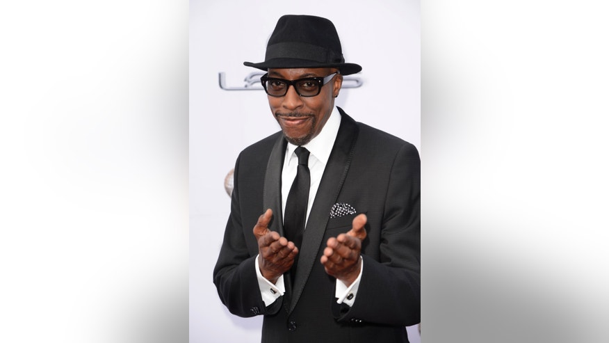 February 22, 2014. Talk show host Arsenio Hall attends the 45th NAACP Image Awards in Pasadena, California.