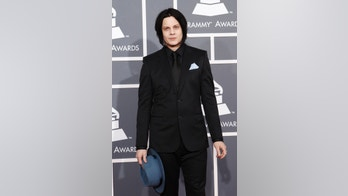 Musician and record producer Jack White arrives at the 55th annual Grammy Awards in Los Angeles, California February 10, 2013.  REUTERS/Mario Anzuoni (UNITED STATES  - Tags: ENTERTAINMENT)  (GRAMMYS-ARRIVALS) - RTR3DM6O