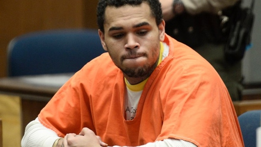 May 9, 2014: Chris Brown appears in court for a hearing at the Criminal Courts in Los Angeles. (Reuters)