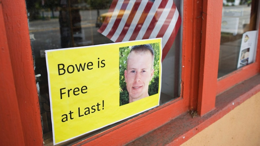A sign of support of Army Sergeant Bowe Bergdahl is seen in Hailey, Idaho June 1, 2014. Bergdahl, the sole American prisoner of war held in Afghanistan, was flown to a U.S. military hospital in Germany on Sunday after being freed in a swap deal for five Taliban militants who were released from the Guantanamo Bay prison in Cuba. REUTERS/Patrick Sweeney (UNITED STATES - Tags: SOCIETY MILITARY POLITICS) - RTR3RQOH