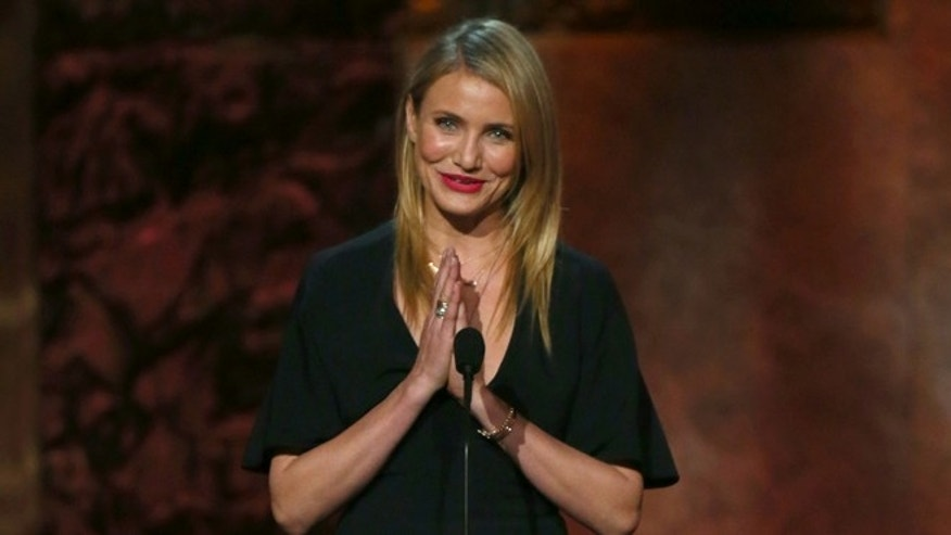 HOLLYWOOD, CA - JUNE 05:  Actress Cameron Diaz speaks onstage at the 2014 AFI Life Achievement Award: A Tribute to Jane Fonda at the Dolby Theatre on June 5, 2014 in Hollywood, California. Tribute show airing Saturday, June 14, 2014 at 9pm ET/PT on TNT.  (Photo by Mark Davis/Getty Images for AFI)