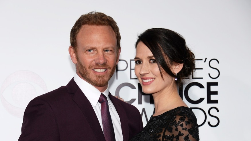 January 8, 2014. Ian Ziering and Erin Kristine Ludwig arrive at the 2014 People's Choice Awards in Los Angeles, California.