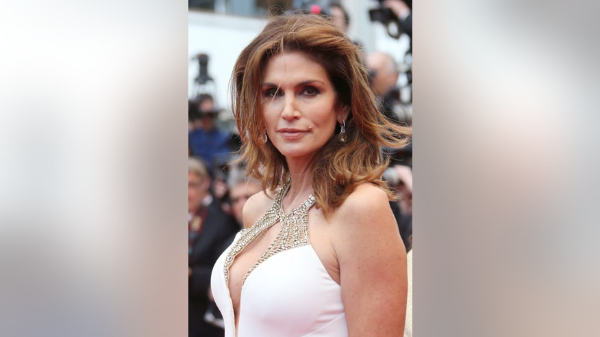 May 15, 2013. Cindy Crawford at the Cannes Film Festival.