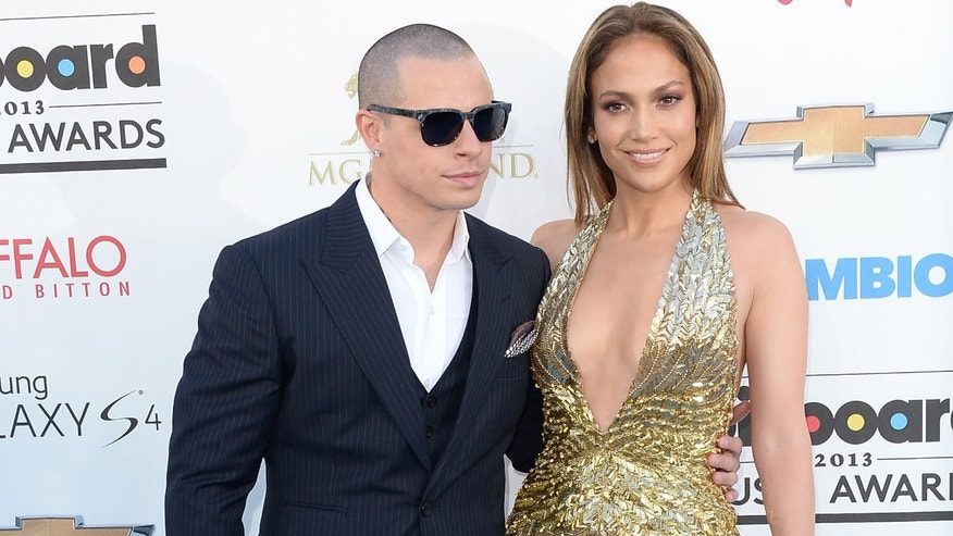 Jennifer Lopez and Casper Smart on May 19, 2013 in Las Vegas, Nevada.