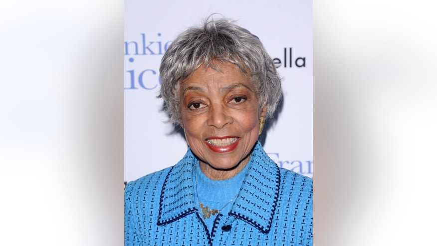 "In this Nov. 17, 2010 file photo, Ruby Dee attends a special screening of ""Frankie & Alice"" in New York. Dee, an acclaimed actor and civil rights activist whose versatile career spanned stage, radio television and film, has died at age 91, according to her daughter."