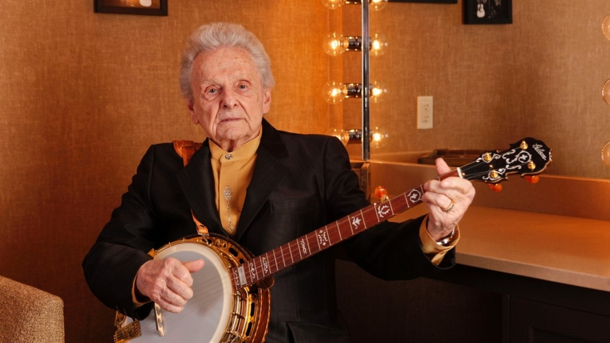 March 11, 2011. Ralph Stanley poses for a photo backstage at the Grand Ole Opry House in Nashville, Tenn.
