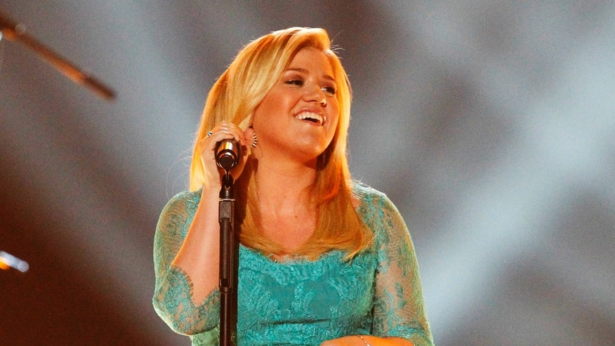 April 7, 2013.Kelly Clarkson performing at  the 48th ACM Awards in Las Vegas.