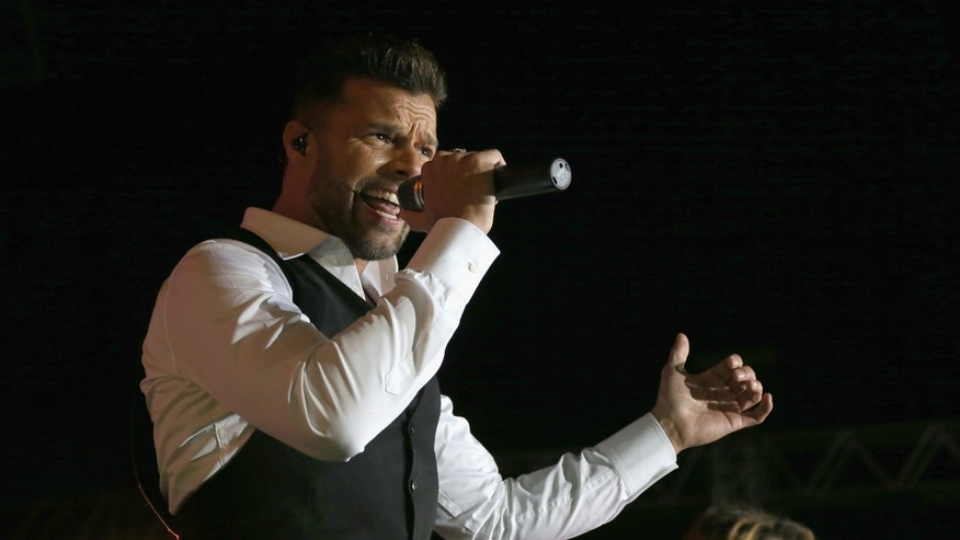VIENNA, AUSTRIA - MAY 31:  Ricky Martin performs on stage during the Lifeball 2014  at City Hall on May 31, 2014 in Vienna, Austria.  (Photo by Thomas Niedermueller/Getty Images)