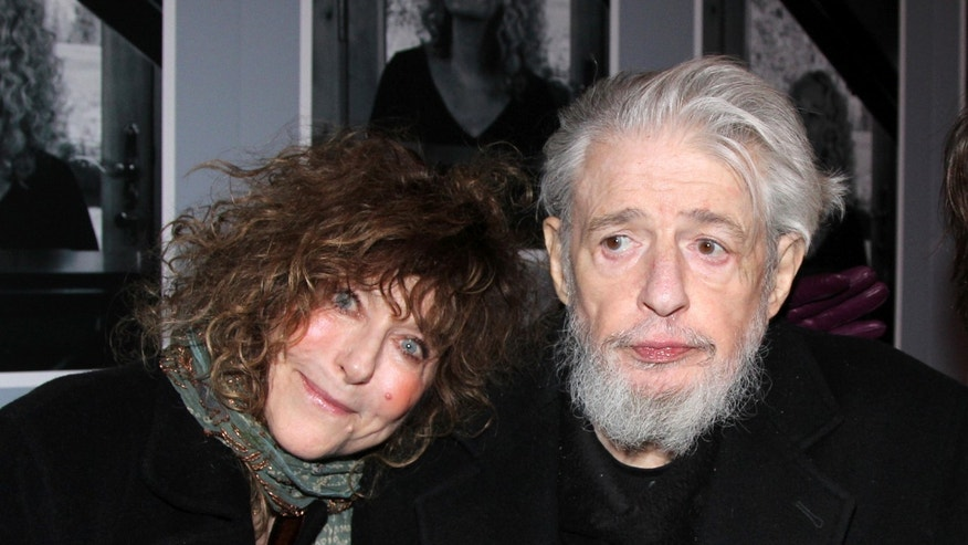 "This undated image released by The O and M Company shows lyricist Gerry Goffin with his wife Michelle at the opening night of ""Beautiful: The Carole King Musical,"" in New York."