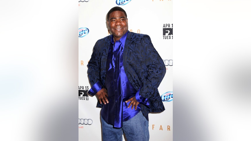 "April 9, 2014. Tracy Morgan attends the FX Networks Upfront premiere screening of ""Fargo"" at the SVA Theater in New York."
