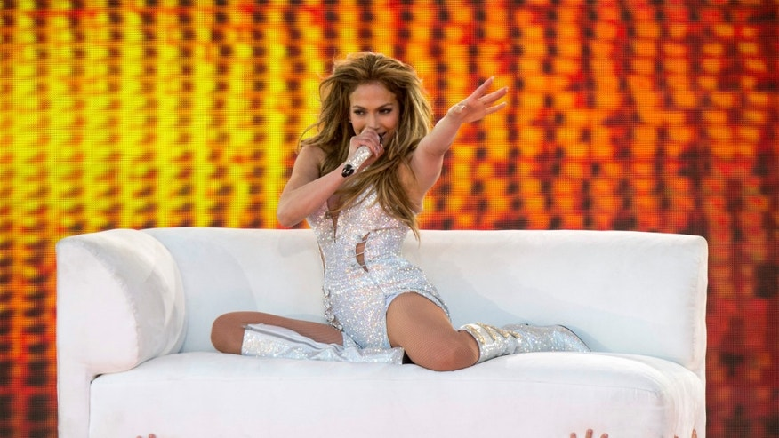 "June 20, 2014. Jennifer Lopez performs on ""Good Morning America's  Summer Concert Series"" in New York City's Central Park."