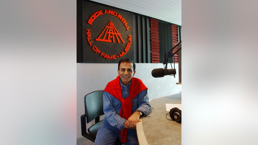 July 29, 2003. Casey Kasem at the Rock and Roll Hall of Fame in Cleveland.