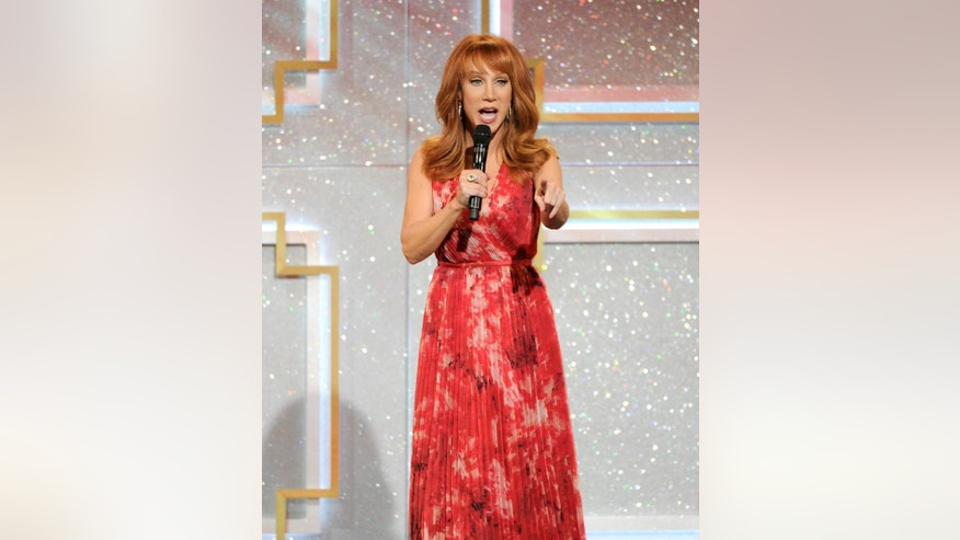 Host Kathy Griffin speaks on stage at the 41st annual Daytime Emmy Awards at the Beverly Hilton Hotel on Sunday, June 22, 2014, in Beverly Hills, Calif. (Photo by Chris Pizzello/Invision/AP)