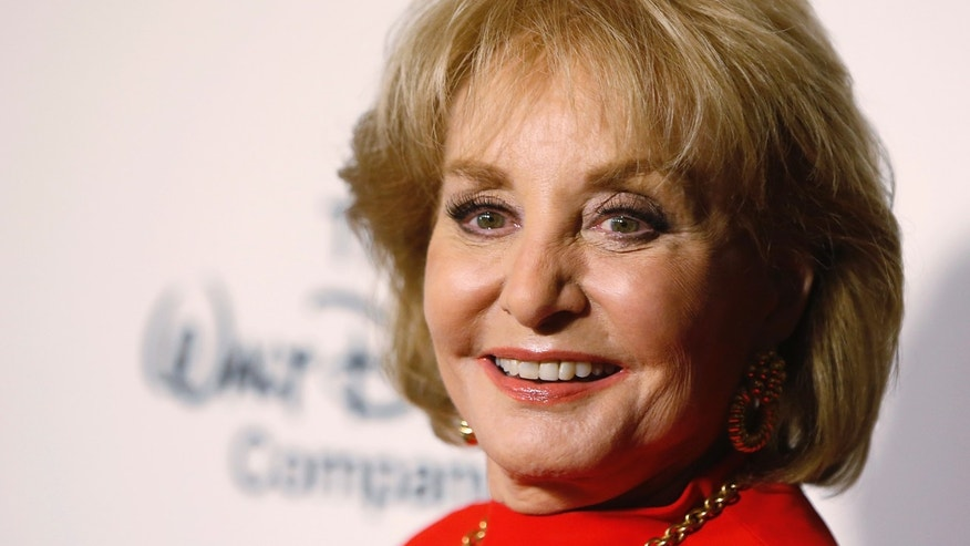 "May 14, 2014. Journalist Barbara Walters arrives for ""A Celebration of Barbara Walters Cocktail Reception"" in New York."