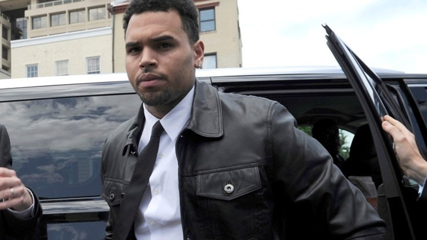 June 25, 2014: Singer Chris Brown arrives at the D.C. Superior Court, in Washington.