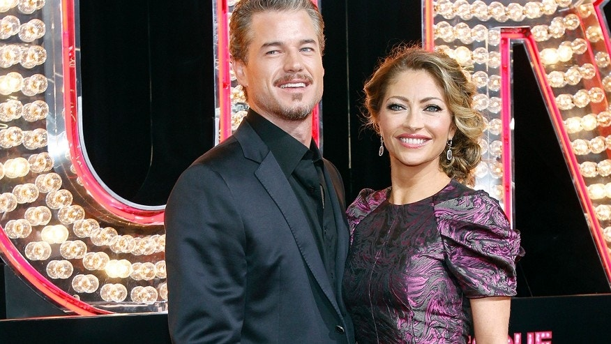 Eric Dane and his wife Rebecca Gayheart.