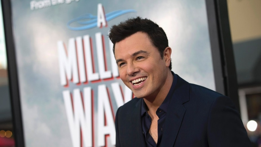 """May 15, 2014. Director and cast member Seth MacFarlane poses at the premiere of  """"A Million Ways to Die in the West"""" in Los Angeles, California."""