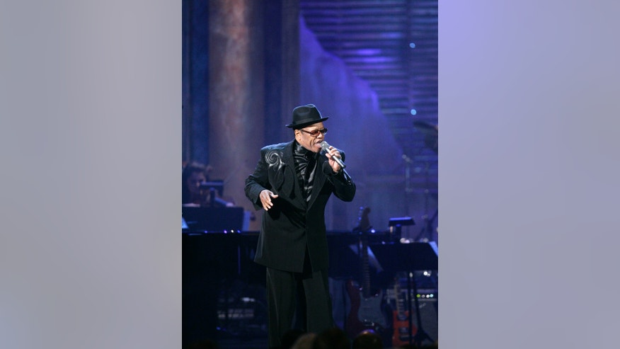 April 4, 2009. Bobby Womack performs after being inducted into the Rock and Roll Hall of Fame during the 2009 Rock and Roll Hall of Fame Induction Ceremony, in Cleveland.