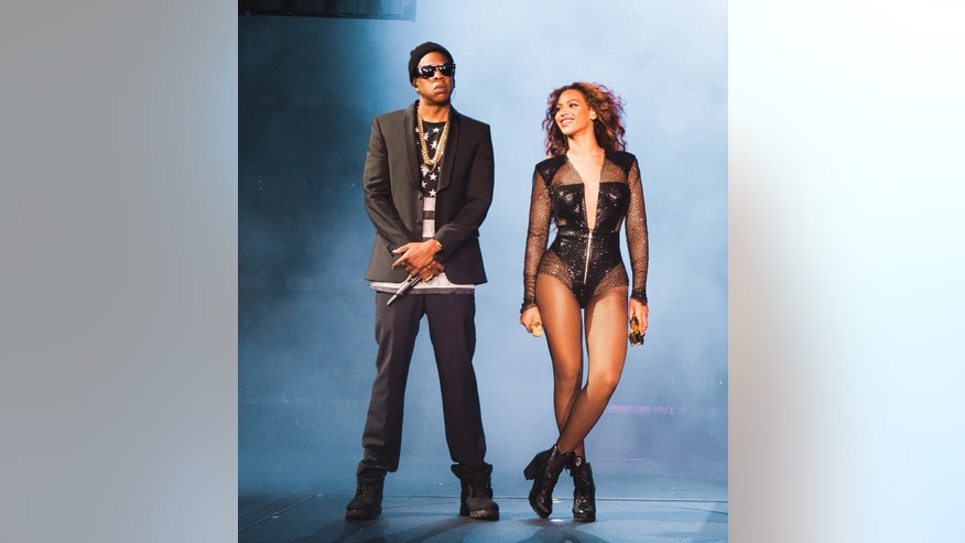 June 28, 2014. Jay Z and Beyoncé perform on the On The Run Tour at the Great American Ball Park in Cincinnati, Ohio.