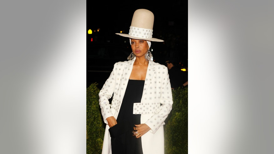 May 5, 2014. Singer Erykah Badu arrives at the Metropolitan Museum of Art Costume Institute Gala Benefit in New York.