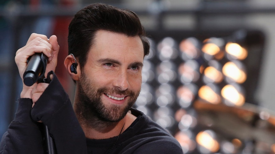 "June 14, 2013. Singer Adam Levine performs with his band Maroon 5 on the ""Today"" show in New York."