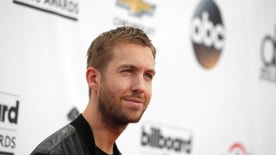 DJ Calvin Harris arrives at the 2014 Billboard Music Awards in Las Vegas, Nevada May 18, 2014.  REUTERS/L.E. Baskow  (UNITED STATES-Tags: ENTERTAINMENT)(BILLBOARDAWARDS-ARRIVALS) - RTR3PQNC