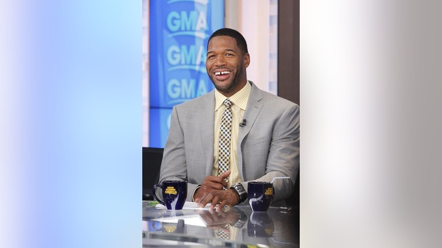 "GOOD MORNING AMERICA - Michael Strahan on ""Good Morning America,"" 6/24/14, airing on the ABC Television Network.   (ABC/Lou Rocco) MICHAEL STRAHAN"