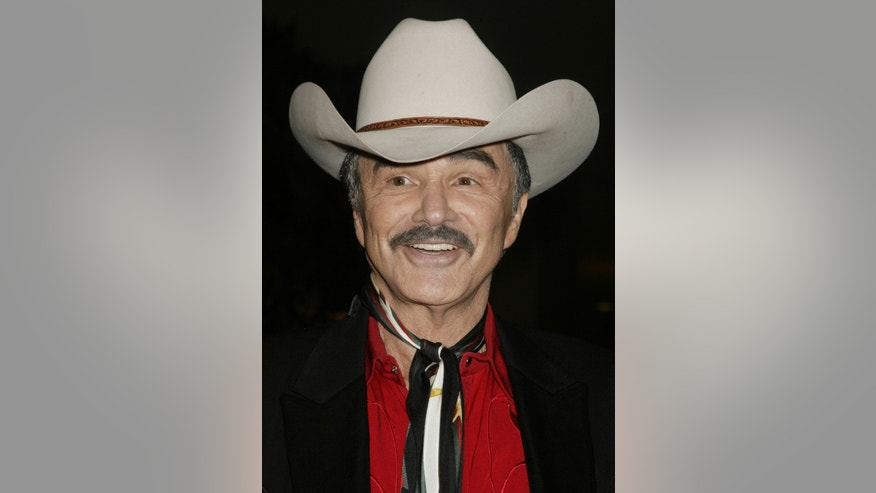 August 12, 2006. Burt Reynolds arrives as a guest at the Golden Boot Awards in Beverly Hills, California.