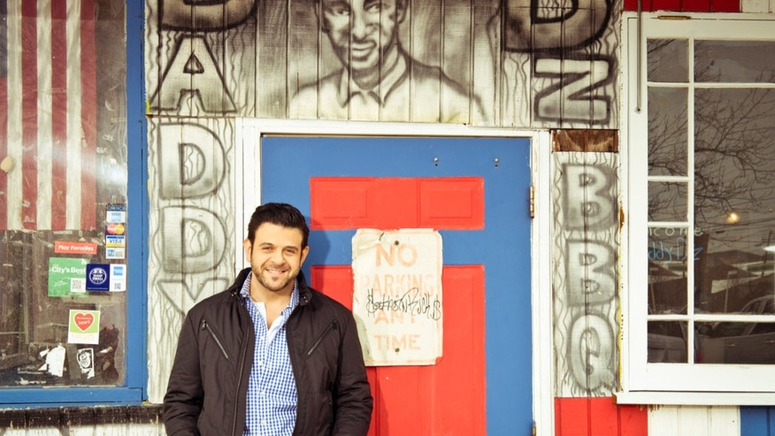 "Adam Richman of the new series  ""Man Finds Food"" in Atlanta."