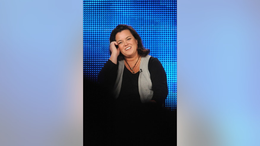 "Executive producer Rosie O'Donnell participates in a panel for HBO's ""A Family Is A Family Is A Family: A Rosie O'Donnell Celebration"" during the HBO sessions of the Television Critics Association winter press tour in Pasadena, California January 14, 2010. REUTERS/Phil McCarten (UNITED STATES - Tags: ENTERTAINMENT) - RTR28VK9"