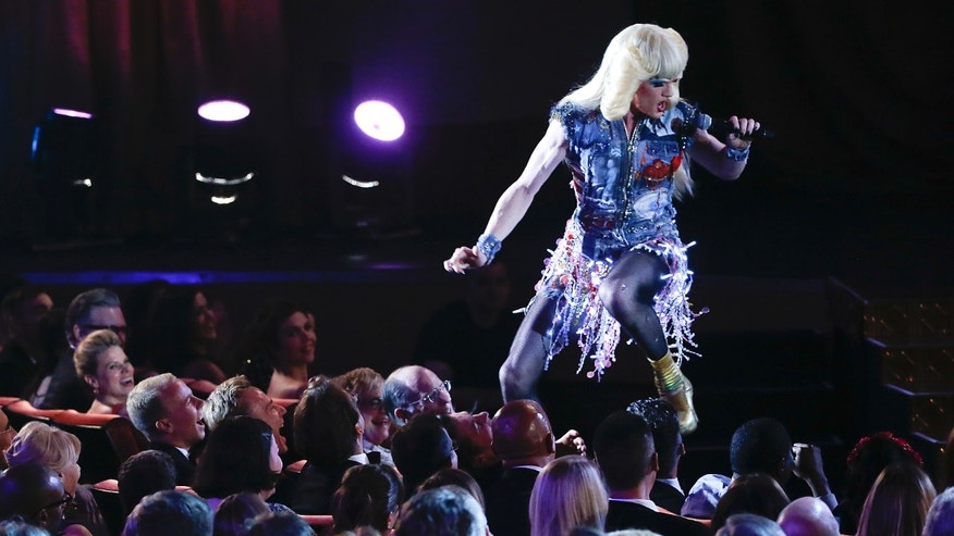 "June 8, 2014. Actor Neil Patrick Harris performs a song from ""Hedwig and the Angry Inch"" during the American Theatre Wing's 68th annual Tony Awards at Radio City Music Hall in New York."