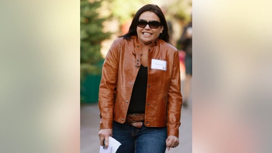 July 10, 2008. Rachel Ray, host of the syndicated talk/lifestyle program Rachael Ray and two Food Network series, shivers against the morning chill as she arrives at the 26th annual Allen & Co conference in Sun Valley, Idaho.