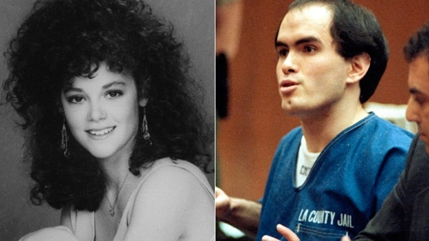 Actress Rebecca Schaeffer and the obsessed fan who murdered her 25 years ago, Robert Bardo.