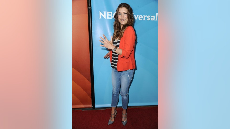Kate Walsh attends the NBC 2014 Summer TCA held at the Beverly Hotel on Sunday, July 13, 2014, in Beverly Hills, Calif. (Photo by Richard Shotwell/Invision/AP)