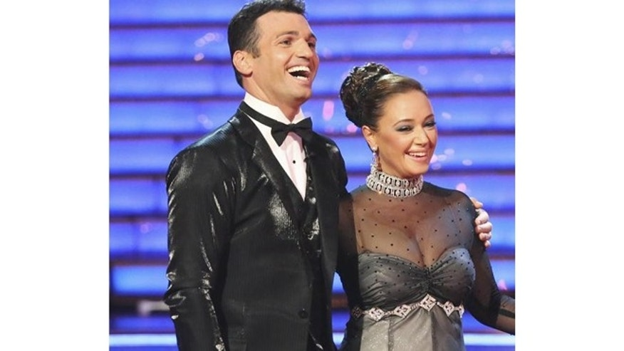 "Leah Remini and Tony Dovolani appear on ""Dancing with the Stars."""
